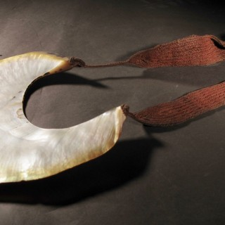 Papua New Guinea Tribal Kina Mother of Pearl Shell Necklace