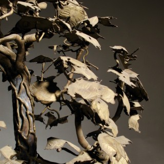 Bonsai in Bronze American Sculpture Tree