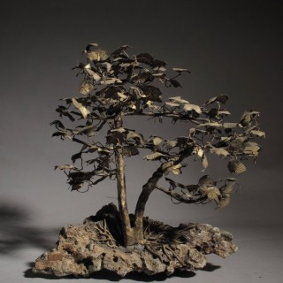 Bonsai in Bronze American Sculpture Tree