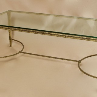 Gilded Wrought Iron Maison Ramsay French Coffee Table