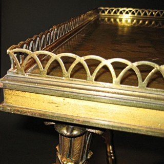 a very rare and beautiful original gilded bronze traveling table