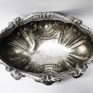 Large Continental Silver Jardiniere and Wine Cistern
