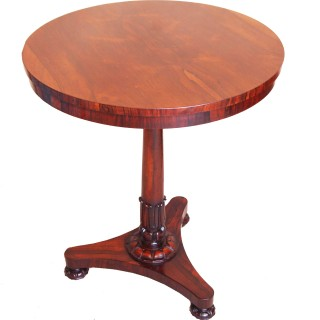 Antique Regency Rosewood Circular Lamp Table