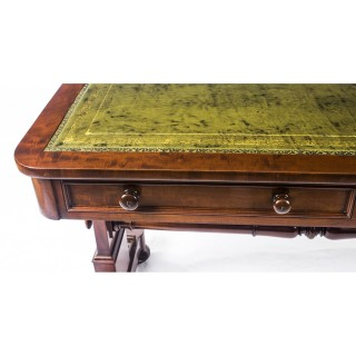 Antique William IV Writing Library Table Johnstone and Jeanes 19th C