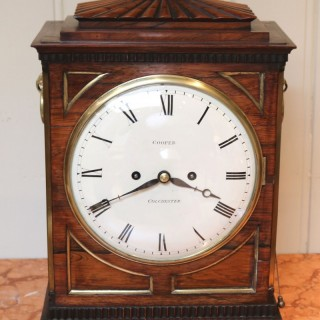 Regency Rosewood Chamfer Top Bracket Clock