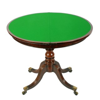 Georgian Demi Lune Card Table