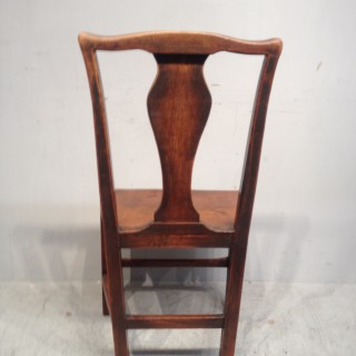 Set of six Geo III elm country dining chairs.