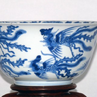 Kangxi Blue and White Phoenix Bowl