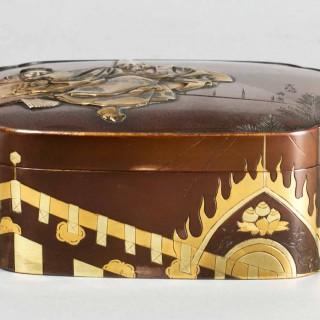 NICE QUALITY  JAPANESE MIXED METAL BOX BY THE MIYAO EISUKE COMPANY
