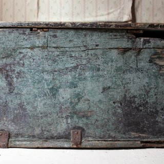 A Rare Early 17thC Iberian Painted & Gilt Decorated Chest c.1620