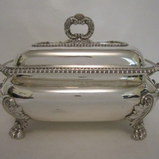 Antique George IV Sterling silver soup tureen