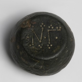 Byzantine Barrel-shaped Bronze Weigh