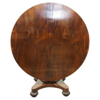 William IV Rosewood Breakfast Table