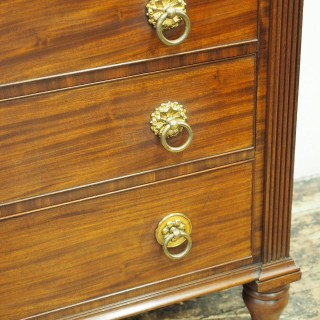 William IV Scottish Mahogany Linen Press