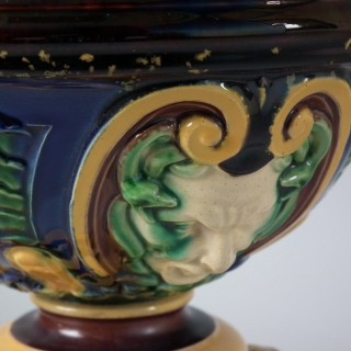 Monumental Minton Majolica Ewer & Stand