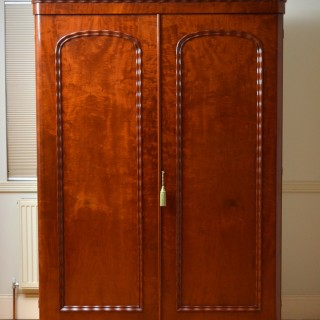 Large Victorian Mahogany 2 Door Wardrobe