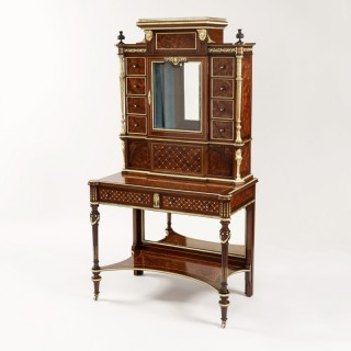 A Writing Cabinet Vitrine in the Louis XVI Manner of Holland & Sons