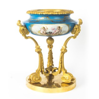 Antique Gilt Bronze & Sevres Porcelain Centrepiece 19th Century