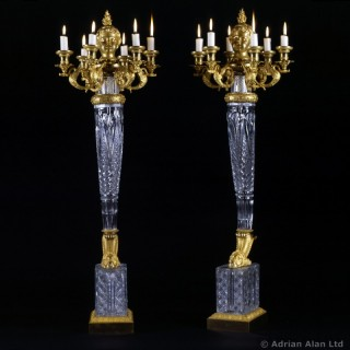 A Pair of Empire Six-Light Candelabra