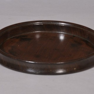 Antique Treen 19th Century Mahogany Coaster