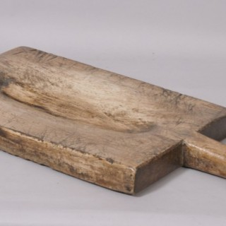Antique Treen 19th Century Elm Chopping Board