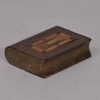 Antique Treen 19th Century Specimen Woods Book Box