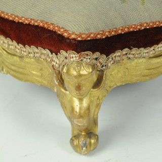 Pair of Parcel Gilt Foot Stools