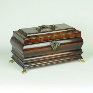 18th century bombé shaped Tea Caddy