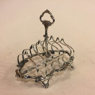 Antique Victorian Sterling Silver Toast-rack