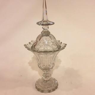 Pair of late 19th century glass Bonbonnière with lids