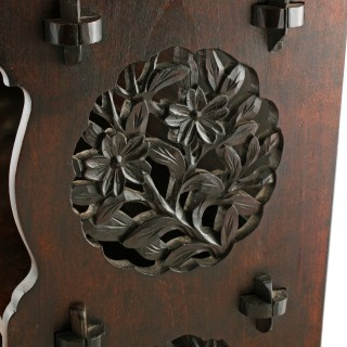 Japanese Carved Wood Curios Stand