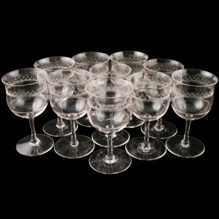 Ten Edwardian Port Glasses