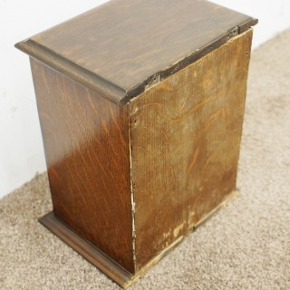 Neat Oak and Brass Victorian Letter Box