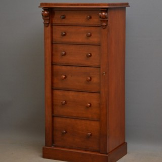 Victorian Figured Mahogany Wellington Chest