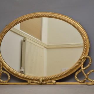 Victorian Gilt wood Overmantel Mirror