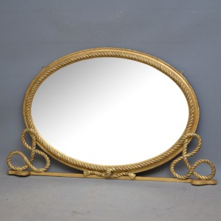 Victorian Gilt wood Overmantel Mirror