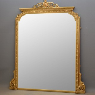 English Victorian Overmantle Mirror