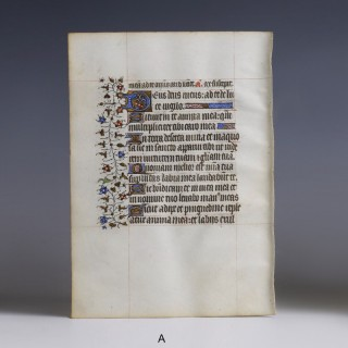 Medieval Book of Hours Illuminated Manuscript