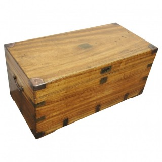 Brass Bound Camphor Campaign Trunk