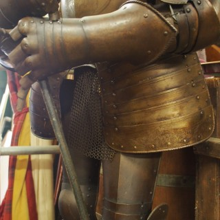 Victorian Set of Armour on Stand