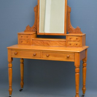 Victorian Satinwood Dressing Table of Narrow Proportions