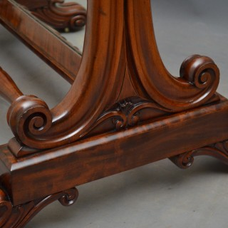 Fine William IV Cheval Mirror in Mahogany