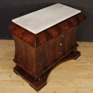 Spanish Dresser In Mahogany Wood With Marble Top From 19th Century