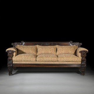 Fine Regency Rosewood Sofa after design by John Taylor