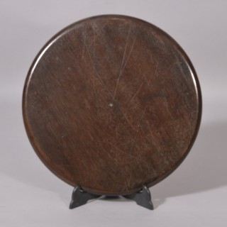 Antique Treen Georgian Circular Visiting Card Tray