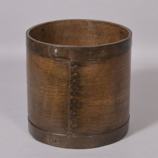 Antique Treen 19th Century Ash Gallon Measure