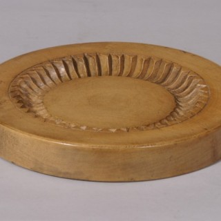 Antique Treen 19th Century Sycamore Shortbread Mould