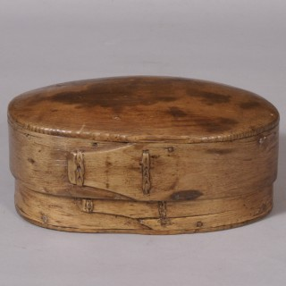 Antique Treen 19th Century Scandinavian Birch Food Box