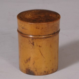 Antique Treen Sycamore Container and Measuring Glass