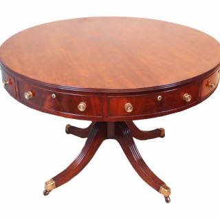 Antique Georgian Mahogany Drum Table